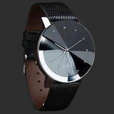 Luxury Hommes montre-bracelet Quartz Sport Acier inoxydable Dial Bande Cuir