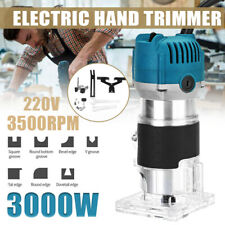 220V 3000W Electric Hand Trimmer Wood Carving Laminator Router Joiners Tool Set
