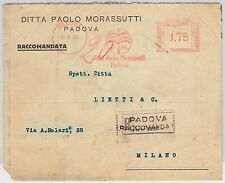 ITALY -  POSTAL HISTORY - RED MECHANICAL POSTMARK on COVER - PALM TREES  Padova