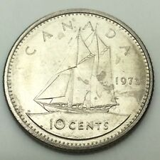 1972 Canadian 10 Ten Cents Dime Canada Uncirculated Coin Not In Case C716