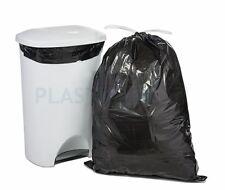 PlasticPlace 13 Gallon Extra Tall Drawstring, Jr Pack - MPN: W13DSBKJR