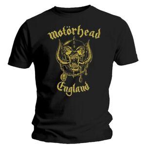 Motorhead England Classic Gold Shirt S-XXL T-shirt Official Metal Rock Tshirt