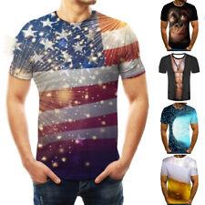 Hombre 3D Camiseta Streetwear Tops Estampado Hip Hop Camisas de Manga Corta Ropa