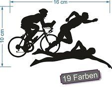 Triathlon 1 schwimmen radfahren laufen Sport IronMan Aufkleber Sticker #7883