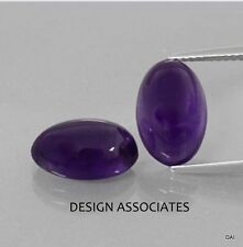 AFRICAN AMETHYST 19X14+ MM OVAL CABOCHON ALL NATURAL