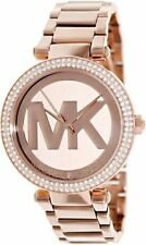 Brand New Michael Kors Lady's Parker Rose Gold Dial Crystal Watch MK5865