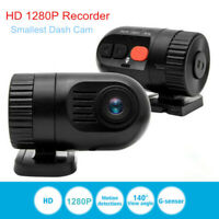 Kleinste 1280P HD Dashcam Camcorder Auto Kamera Video Rekorder DVR S I UK