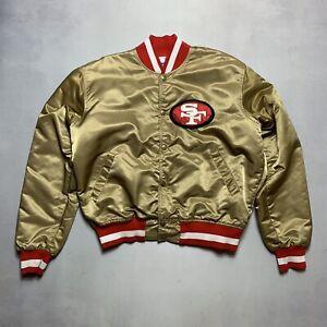Vintage San Francisco 49ers Satin Jacket by Starter Pro Line Size Large