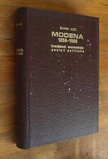 G. AZZI: Modena 1859-1898 - Condizioni economiche sociali politiche  p. e. 1970