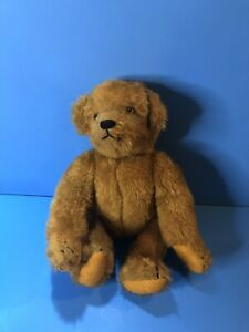 "VINTAGE JOINTED TEDDY BROWN BEAR BY ARTIST TWILA BURNLEY 12"""