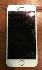 FAKE CRACKED Silver / White Faced Apple IPhone 6 (All Buttons Click) *dummy*