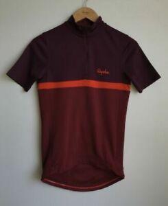 Rapha Short Sleeve Club Cycling Jersey Dark Red / Orange Mens Size XS