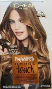 L'OREAL PREFERENCE OMBRE TOUCH OT6 LIGHT BROWN - DARK BLONDE FREE SHIPPING USA