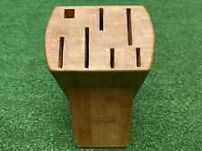 New listing Wolfgang Puck Knife Block (Knives Not Included) 7 Spaces Wooden Block
