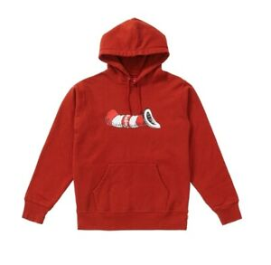 Supreme Cat In The Hat Hoodie Hooded Sweatshirt Rust Red FW18 M Medium