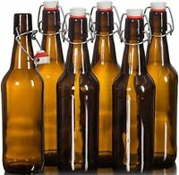 Amber Glass Swing / Flip Top Bottles 500ml Home Brew Beer & Cider Grolsch Style