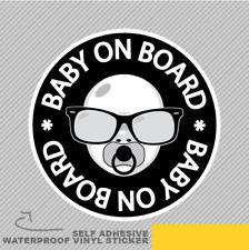 Baby Boy On Board Cute Sweet Vinyle Sticker Autocollant Fenêtre Voiture Van Vélo 2659