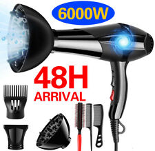 6000w Professional Style Hair Dryer Nozzle Concentrator Blower Pro Salon Heat