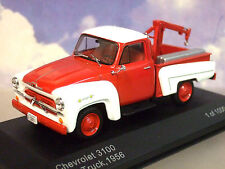 WHITEBOX DE METAL 1/43 1956 CHEVROLET 3100 DESGLOSE/GRÚA ROJO Y BLANCO WB233