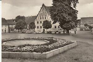 Postkarte - Aken / Friedensplatz mit Rathaus