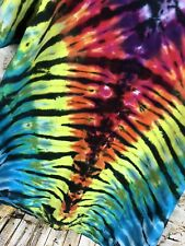 Tie Dye T Shirt Multi Color Dyes Handmade Size Large