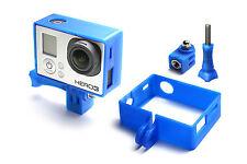 Cavalletto montaggio telaio montare per GoPro go Pro HD HERO 3 adattatore accessori nero blu