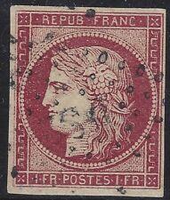 n°6 Cérès timbre classique 1fr Carmin oblitéré qualité TB - Signé Jf.Brun