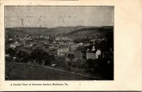 Vintage 1910 Partial View of Business Section Wellsboro Pennsylvania PA Postcard