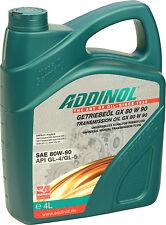 ADDINOL Getriebeöl GX80W90 4 Liter (4,63€/L) Universal 80W-90 GL-4 GL-5 MT1 4L
