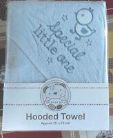 NEW Snuggle Baby Blue  special little one Baby Hooded Bath Towel - 75cmX75cm