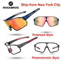 ROCKBROS Cycling Polarized Glasses Bike Photochromic Glasses Goggles Sunglasses