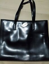 Kenneth Cole New York Black Leather Tote Handbag