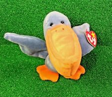 MWMT Ty Beanie Baby Scoop The Pelican 1996 PVC Plush Toy Bird - FREE Shipping