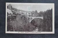 Carte postale ancienne FLUMET et le Pont de Bellecombe