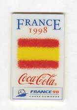 1998 WORLD CUP COCA COLA SPAIN FLAG PIN FOR COMPETING COUNTRIES NEW OLD STOCK