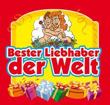 Aufkleber BESTER LIEBHABER, Etikett Sektflasche Flasche selbstklebend Geschenk