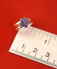 Purple Flower Toe Ring [ Cubic Zirconia & Sterling Silver ] New & Sealed, Qty: 1