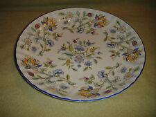 Superb Minton Haddon Hall Blue Serving Bowl Plate-1993-S782-Floral Pattern