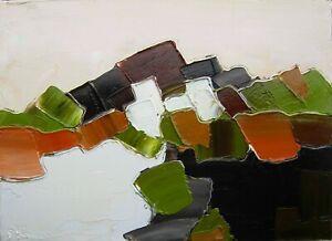 Tableau original de Sic 33X24 cm abstrait Peinture toile art Alpilles