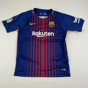 NIKE Dri-Fit FCB Barcelona Rakuten Lionel Messi Soccer Jersey Youth Boys SZ 28