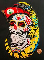 """OA GILA LODGE 378 YUCCA TX 2018 NOAC FLAP DAY OF THE DEAD SKULL 9"""" JACKET PATCH"""