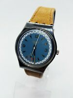 1991 ASCOT Rare Classic Swatch | 90s Blue Elegant Rare Swiss Swatch Watch Mens