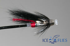 ICE FLIES. Red Butt micro tube fly. Cone head. 3 - pack.