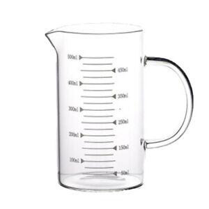Glass Measuring Cup with Scale,Easy Measure Liquid Powder Milk Mug