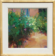 "Joyce Hamil ""Autumn Garden"" Hand Signed Original Oil Painting Art on Board OBO"
