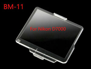 BM-11 Hard Clear Plastic Rear LCD Monitor Screen Cover Protector For Nikon D7000