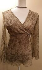 Womens Small BMoss Floral Print tan and brown Nice Condition
