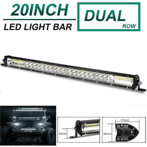 20inch 180W LED Light Bar Dual Row Spot Flood Combo Work UTE Truck SUV ATV 22''