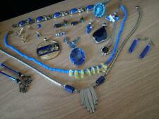 Lot of Blue Jewelry, Necklaces, Pendants, Earrings, Rings & Bracelets - 74 Grams
