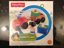 Fisher Price Little People Farm Tractor & Trailer Set. Nuovo Di Zecca in Scatola Età 1-5